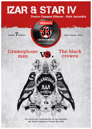 Gramophone Man vs. The Black Crowes en Izar&Star