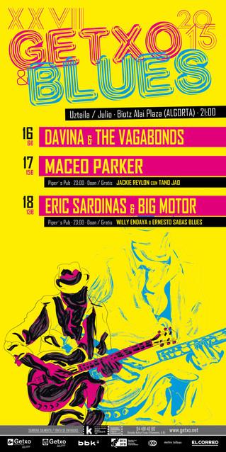 Davina & The Vagabonds, Maceo Parker y Eric Sardinas, protagonistas del Getxo&Blues 2015