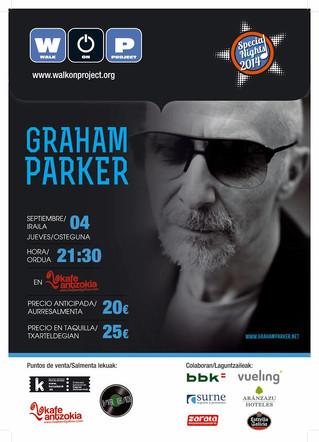 Concierto de Graham Parker en el Kafe Antzokia dentro del ciclo WOP Special Nights