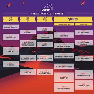 Horarios y distribución de escenarios del ARF 2019