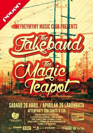 The Fakeband y The Magic Teapot en la sala Fever