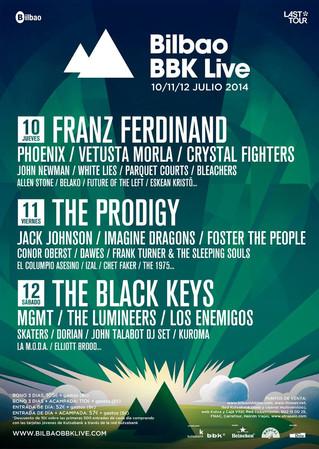 El Bilbao BBK Live anuncia el cartel por días del festival