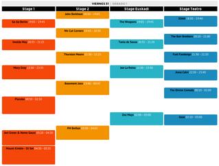 Reestructuración de horarios del BIME LIve