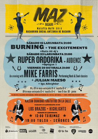 El MAZ Basauri comienza este sábado con Burning y The Excitements