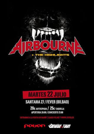 AIRBOURNE tocaran en Julio en Santana 27