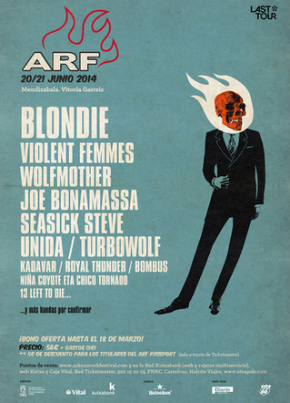 Primeras confirmaciones para el Azkena Rock Festival 2014