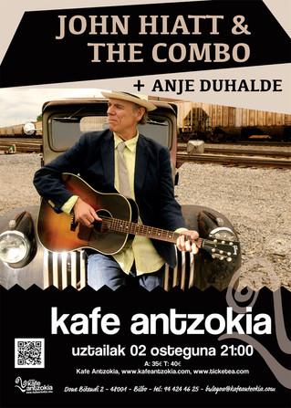 John Hiatt & The Combo + Anje Duhalde en el Kafe Antzokia