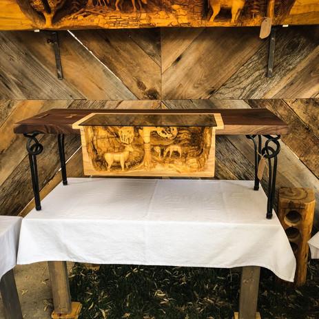 POPuLAR Walnut Coffee Table