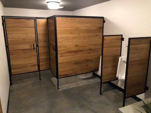 Custom Wood/Steel Bathroom Stalls