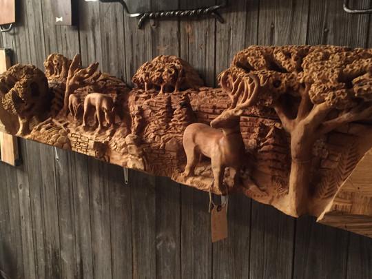 3D Poplar Deer Mantel