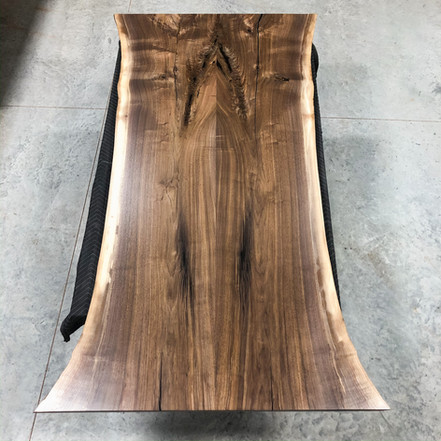 Book Matched Walnut Dining Table