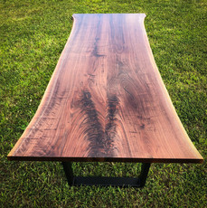 Live Edge Bookmatch Walnut Dining Table