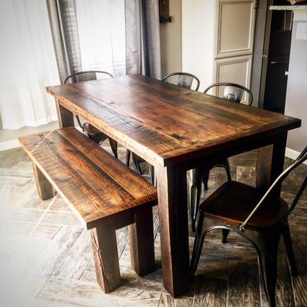 Reclaimed Beach Farmhouse Table