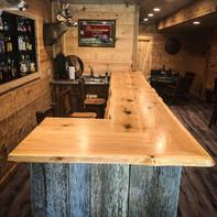 Live Edge Red Oak Bar