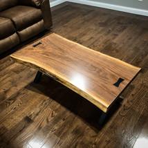 Live Edge Single Slab Walnut Coffee Table