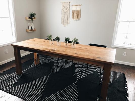 Reclaimed Oak Farmhouse Table