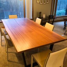 Live Edge Mahogany Dining Table