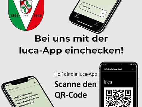 Zutritt für Heimspiele nur über die Luca-App!
