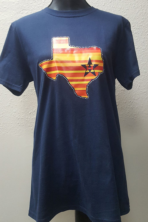 Texas home of the Astros bling shirt