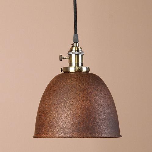 Steel shade twist switch pendant light