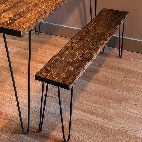 Timber board Hairpin leg bench