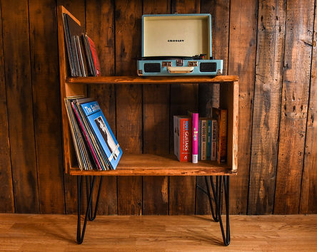 Vinyl record player cabinet