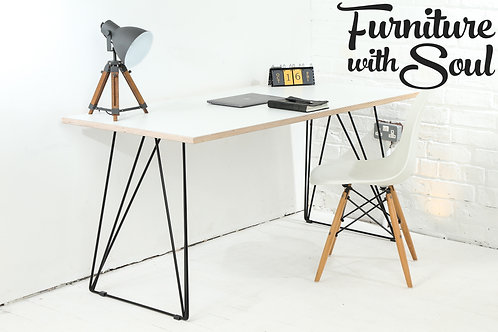 Pinframe Formica home office desk