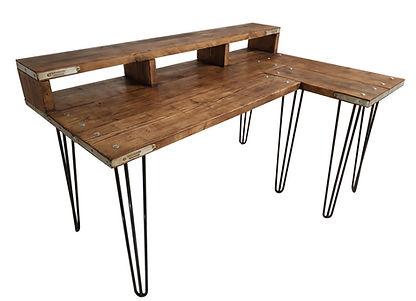 Industrial style corner desk