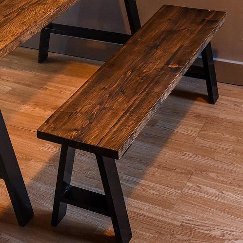 Timber board A-Frame leg bench