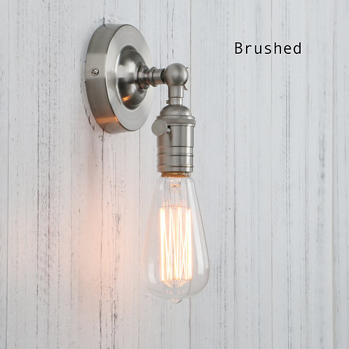 Vintage exposed bulb wall light - twist switch