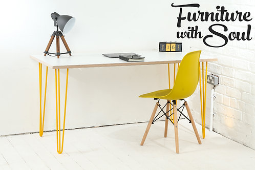 Hairpin leg home office desk - Formica top
