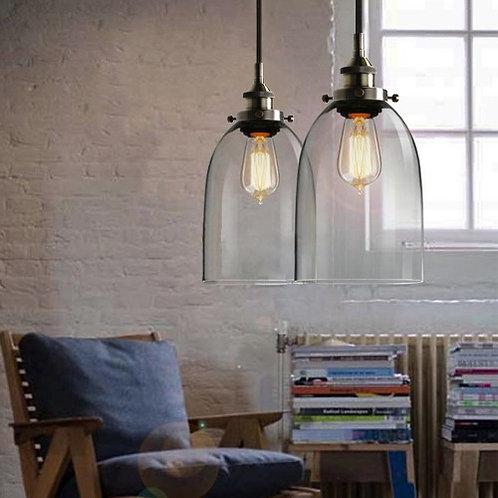 17.5cm Bell glass pendant light