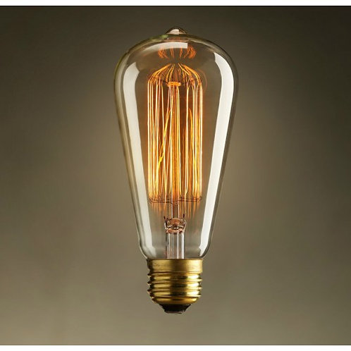 E27 Edison industrial retro light bulbs