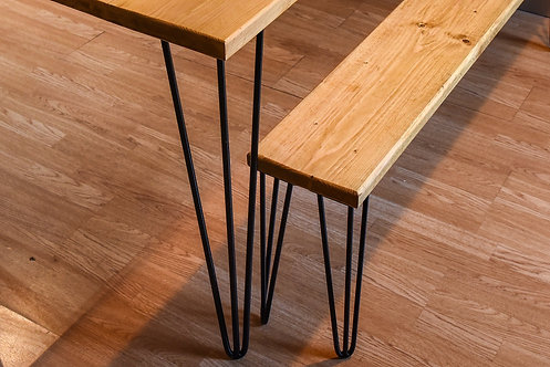 Chunky Beam Hairpin leg bench