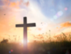 Good Friday concept_ Silhouette cross of