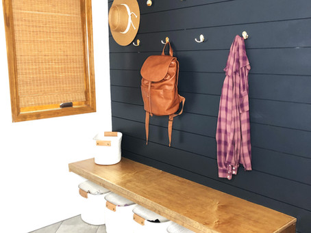 Modern Mudroom Featured on Apartment Therapy