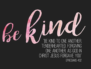 Be Kind. Forgive..