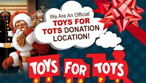 Toys for Tots Bin at Rausch Funeral Home