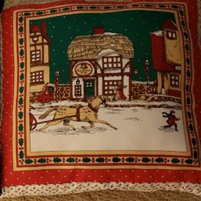 Throw Pillow - Christmas Village