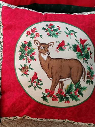 Throw Pillow - Christmas Deer