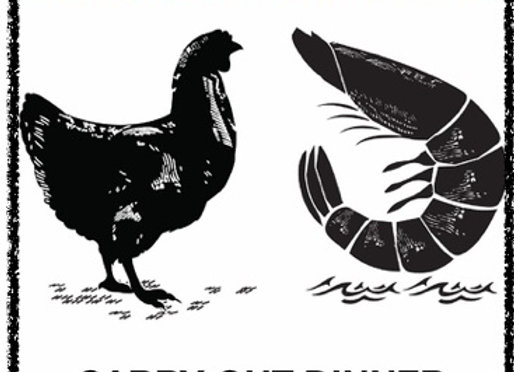 Shrimp and Chicken Carry-Out: February 27th 3-6:30pm