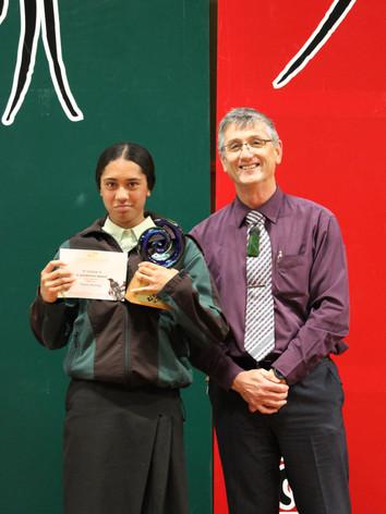Year 8 (Te Awamaarahi Marae) Award: Tiraha Herangi