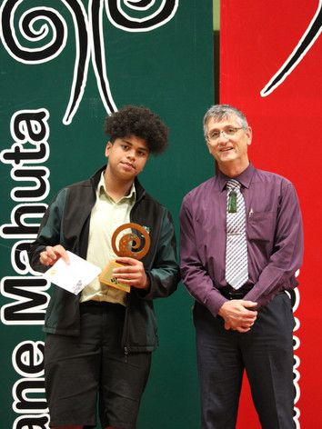 Year 10 (Tikirahi Marae) Award: Tuhoe Parker
