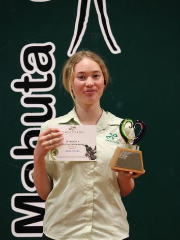 Year 9 (Te Kotahitanga Marae) Award: Kaiya Tarawa