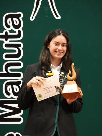Year 12 (Ooraeroa Marae) Award: Brooke Wilson