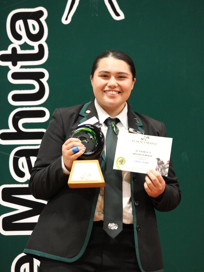 Year 13 (Weraroa Marae) Award: Chloe Judge