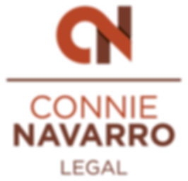 Connie Navarro Legal Logo - Stacked Colo