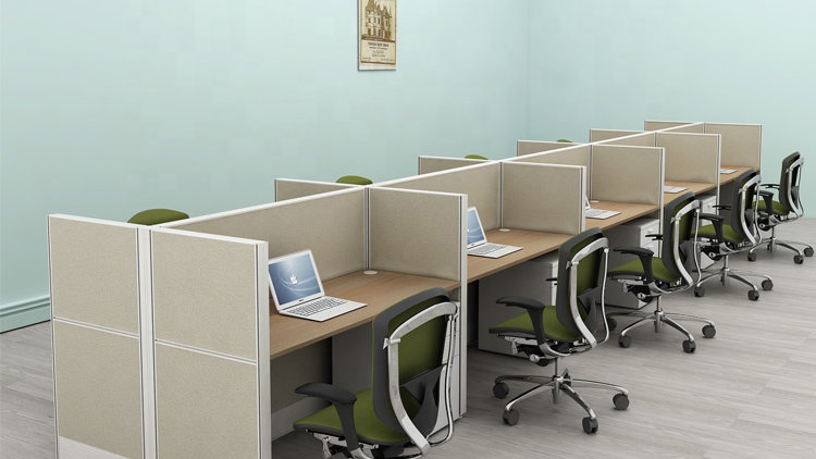 8 Person Office Workstation