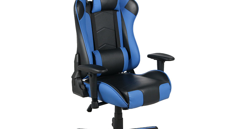 Office E-sport Racing Competitive Customized  Blue PU Leather Racing Chair