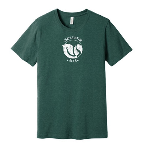 Conservation Coffee T-shirt (Forest Green)